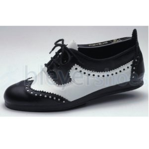 BS7135 Bleyer Lindy Hopper Lace Up in blck and white